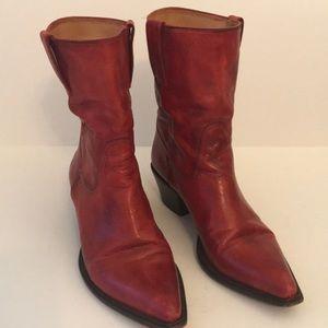 Cole Haan Cowboy Booties EUC